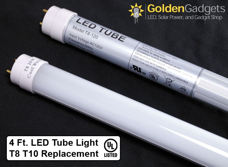 4ft T8 T10 20Watt LED Tube Light G13 Base U Listed -White 6000K