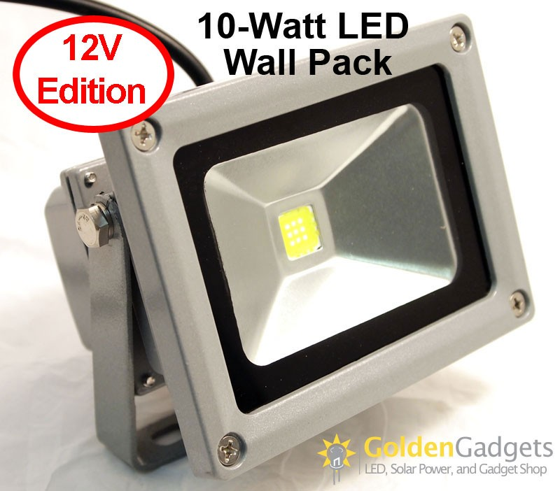 10-Watt LED Flood Light 12-24V DC/AC